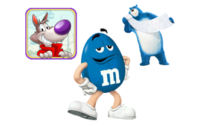 Robb Pruitt Cartoon Voice Over Animation Blue M&M Leonard the Charmin Bear Chip the Wolf